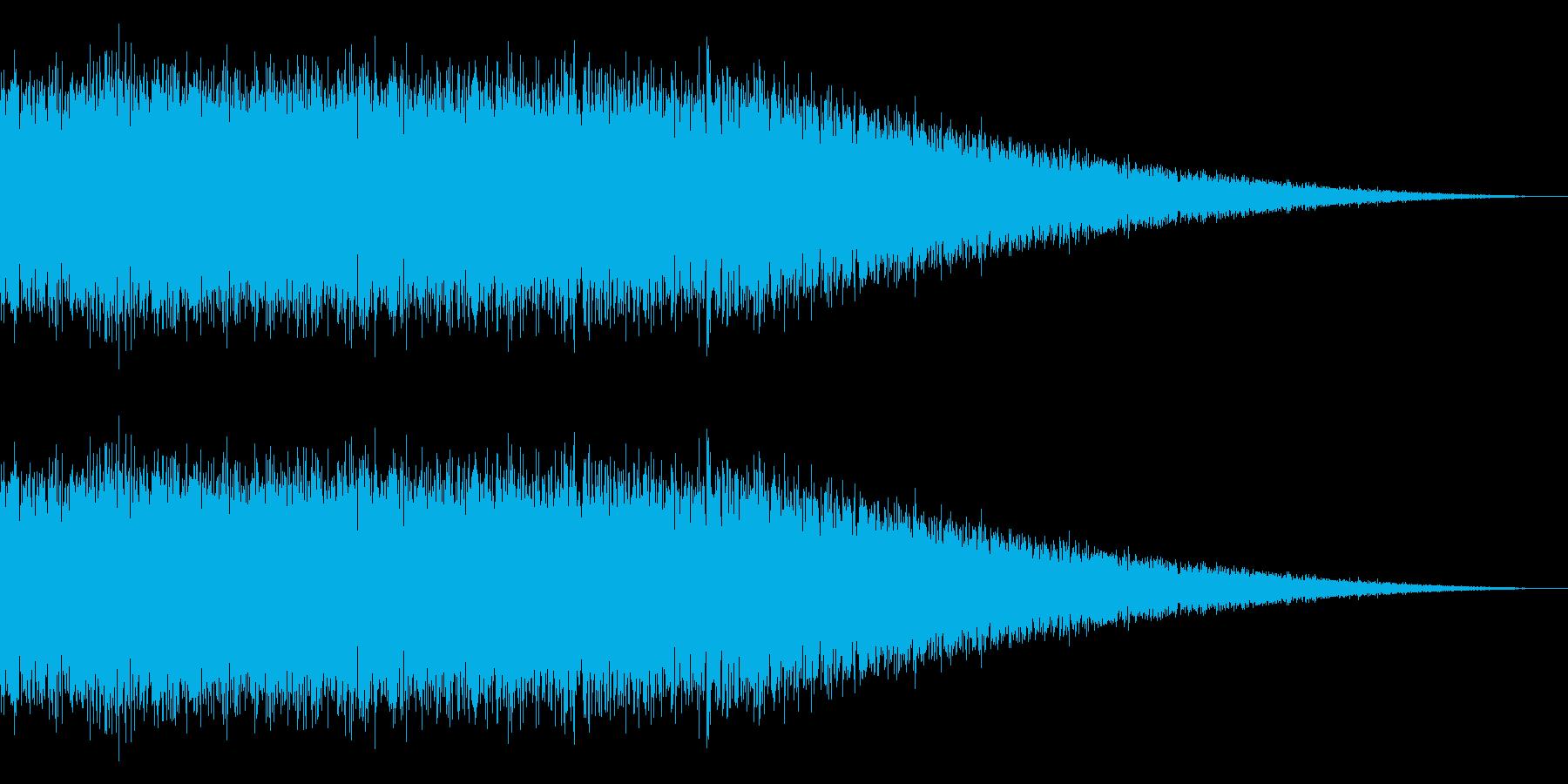 戦車の走行音/キャタピラの効果音 09の再生済みの波形
