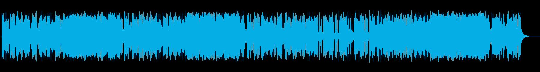 明るい疾走感あるポップな曲の再生済みの波形