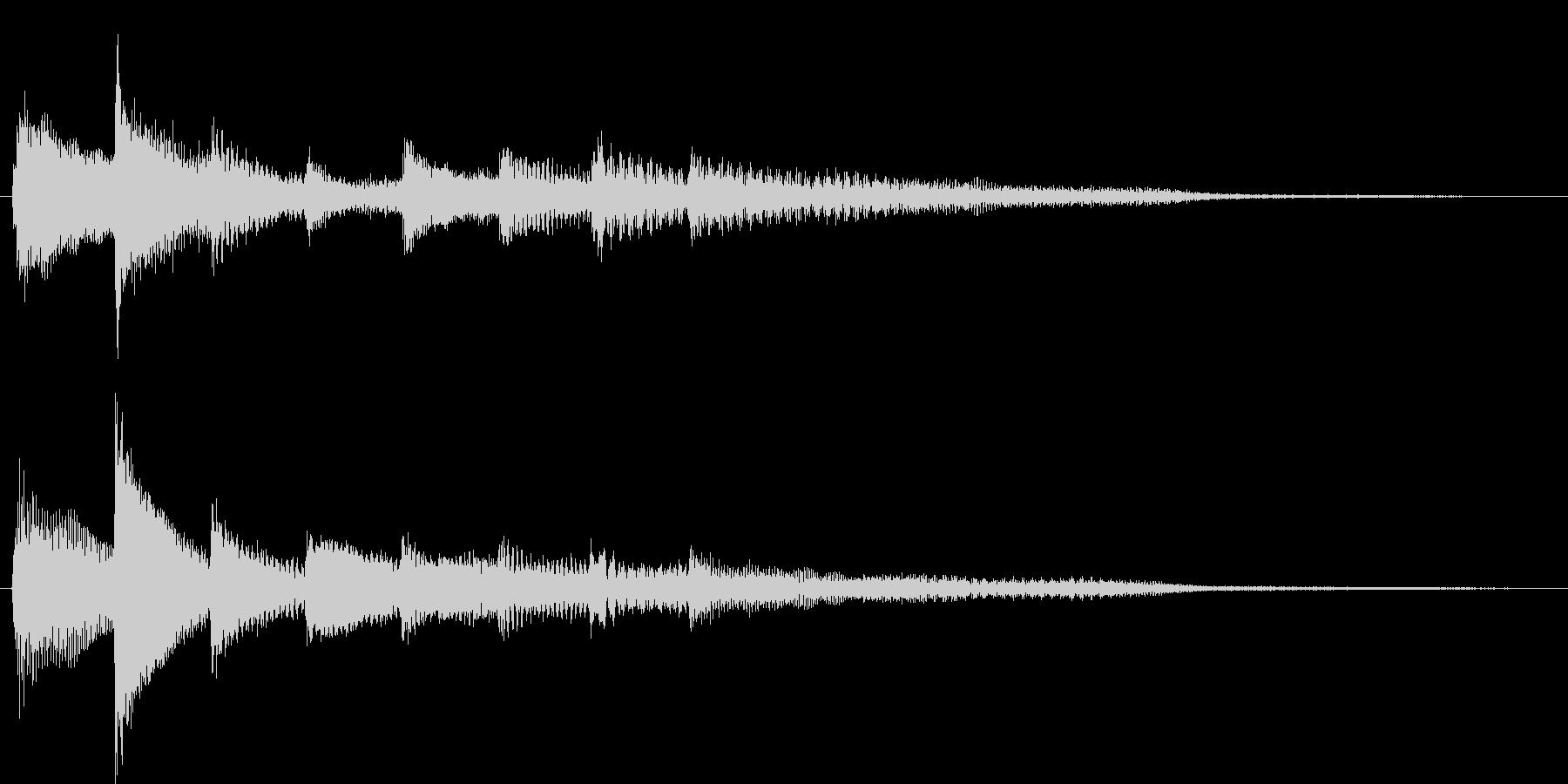 短いピアノ映像用ジングル6の未再生の波形