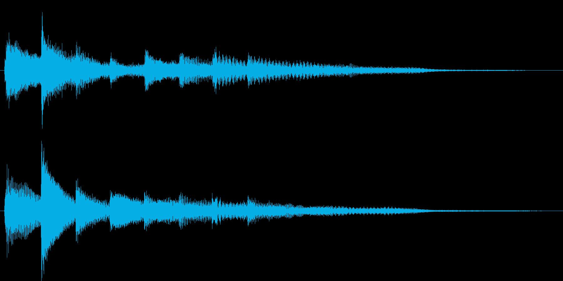 短いピアノ映像用ジングル6の再生済みの波形