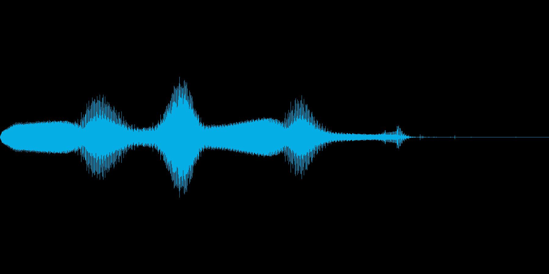 ゲームの効果音 2の再生済みの波形
