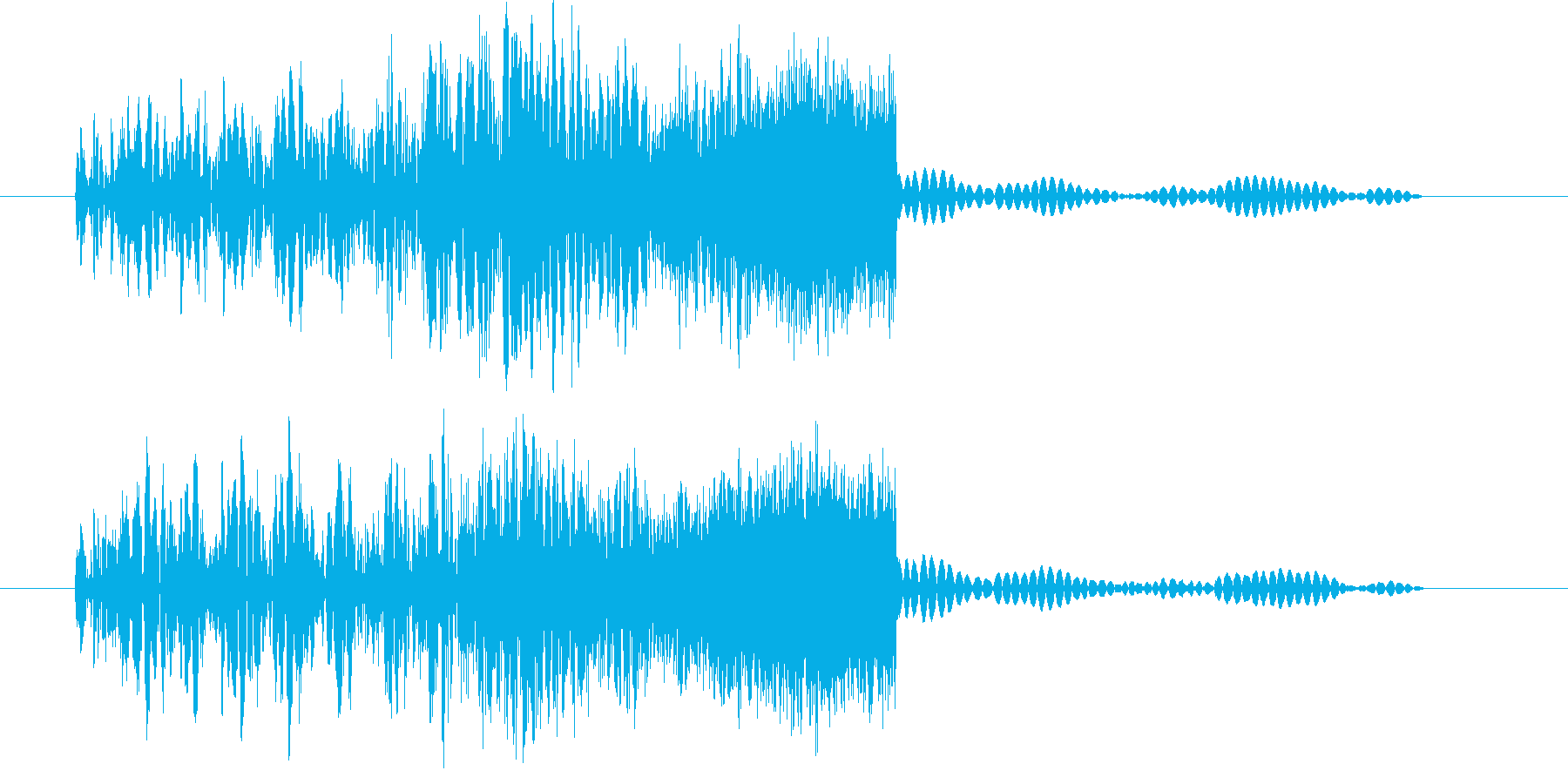 ボァア (星人の声)の再生済みの波形