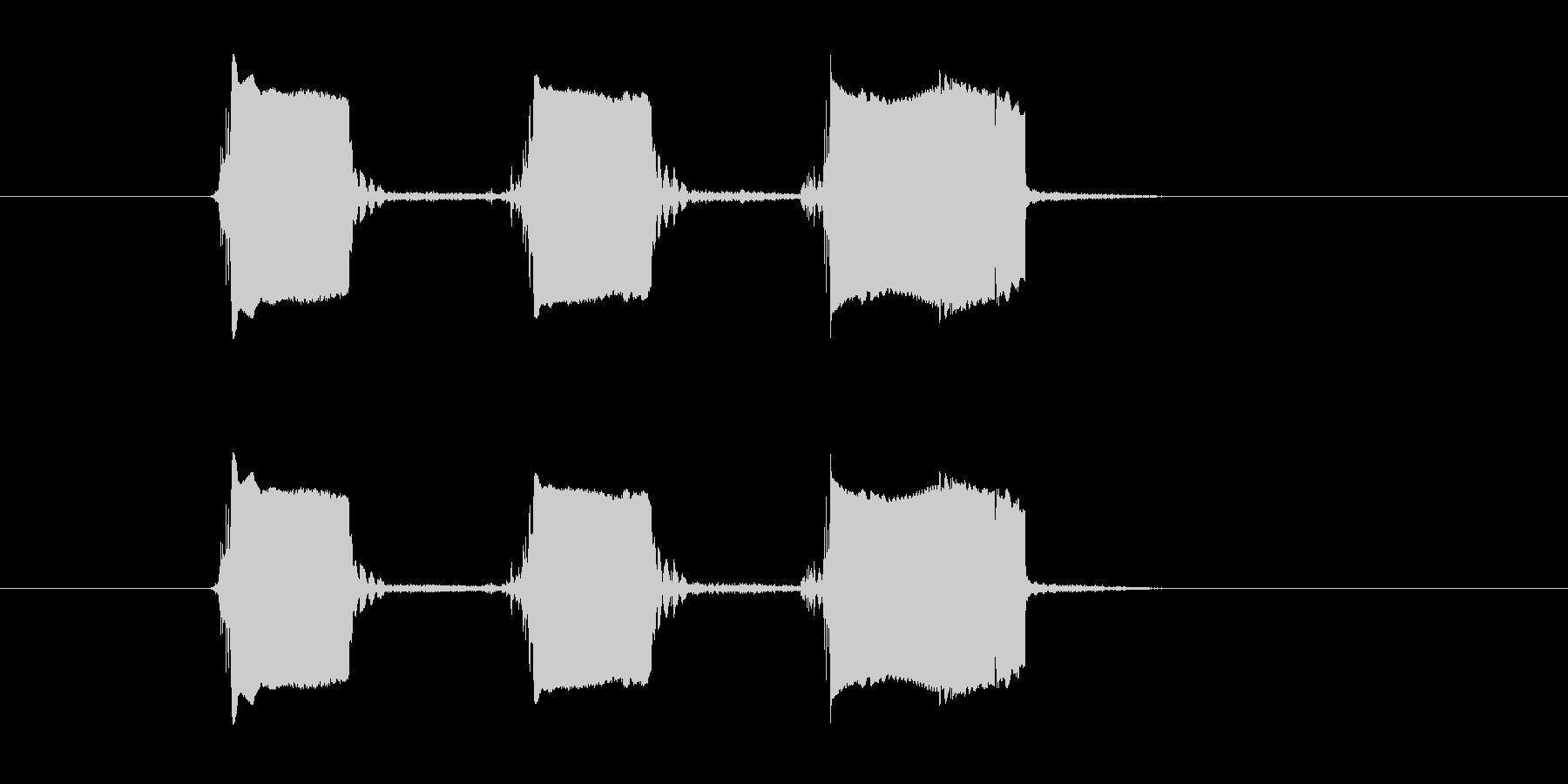 ピューピューピューイ!という移動音の未再生の波形