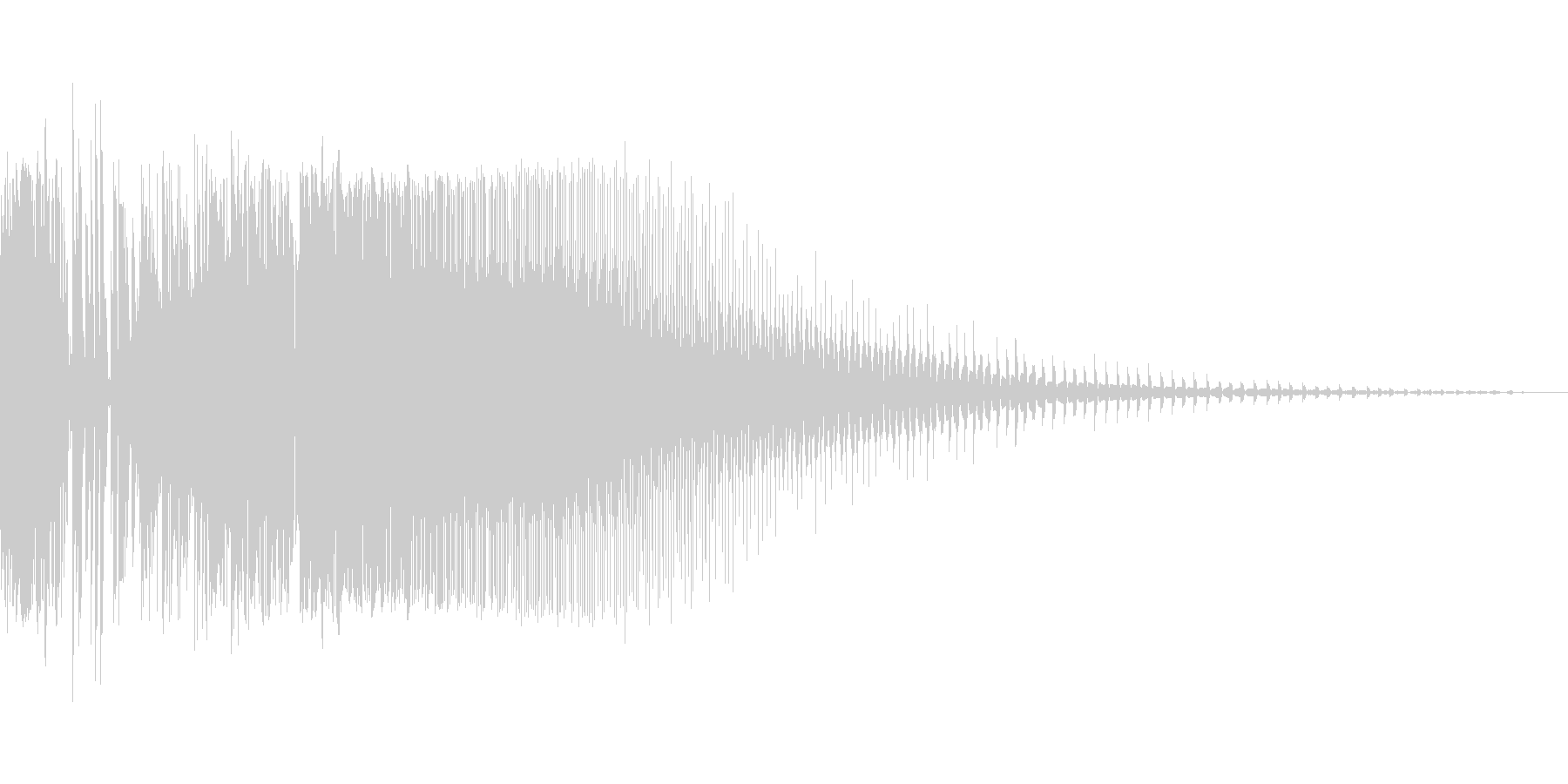 ズビジューン(ビームライフル風の射撃音)の未再生の波形