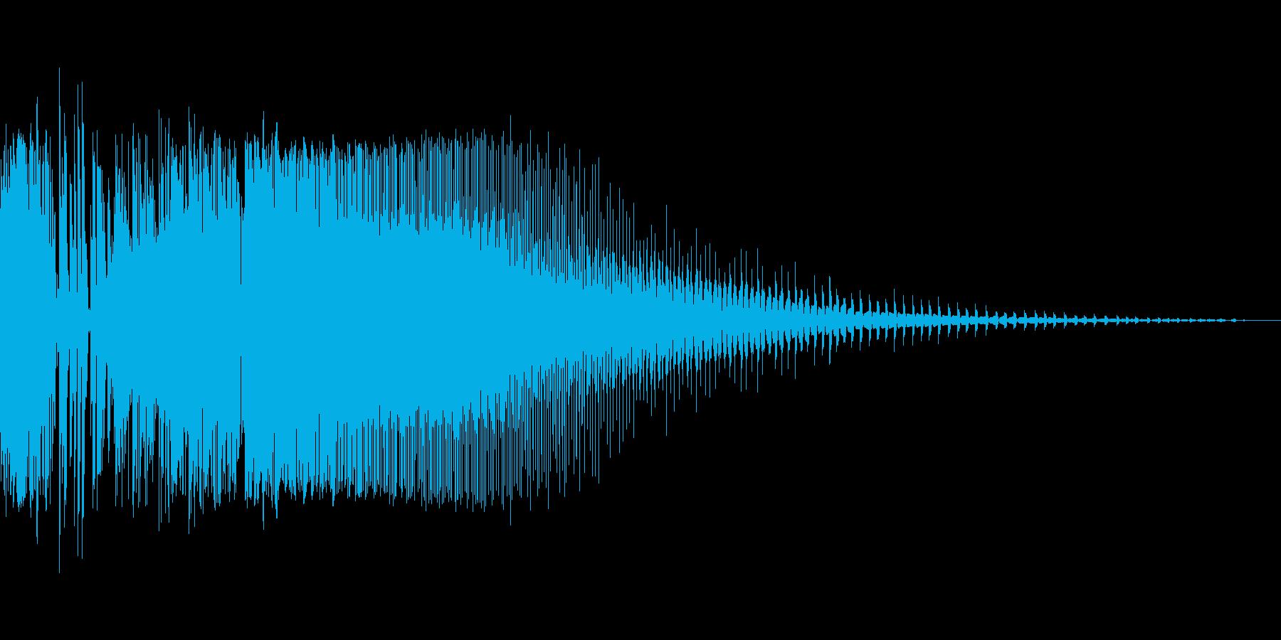 ズビジューン(ビームライフル風の射撃音)の再生済みの波形