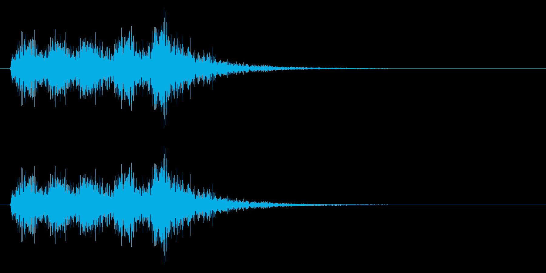 ジャジャジャジャジャン(オケヒット)の再生済みの波形