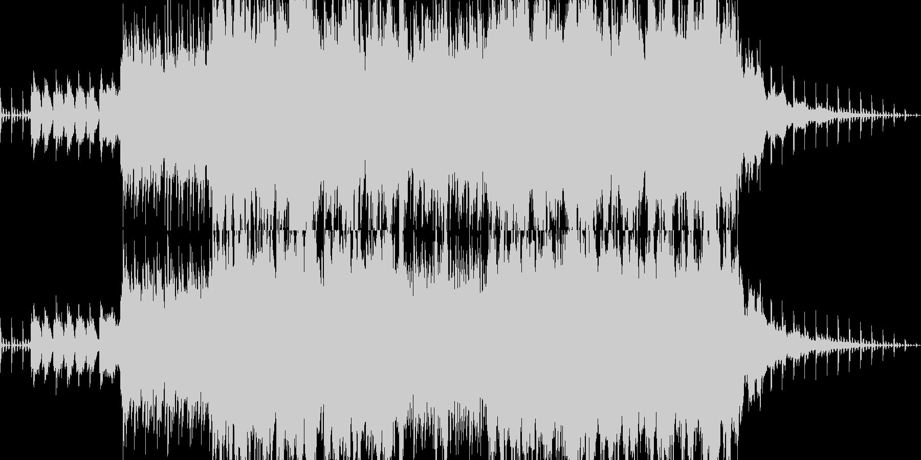 ドラマティックでスピリチュアルなバラードの未再生の波形