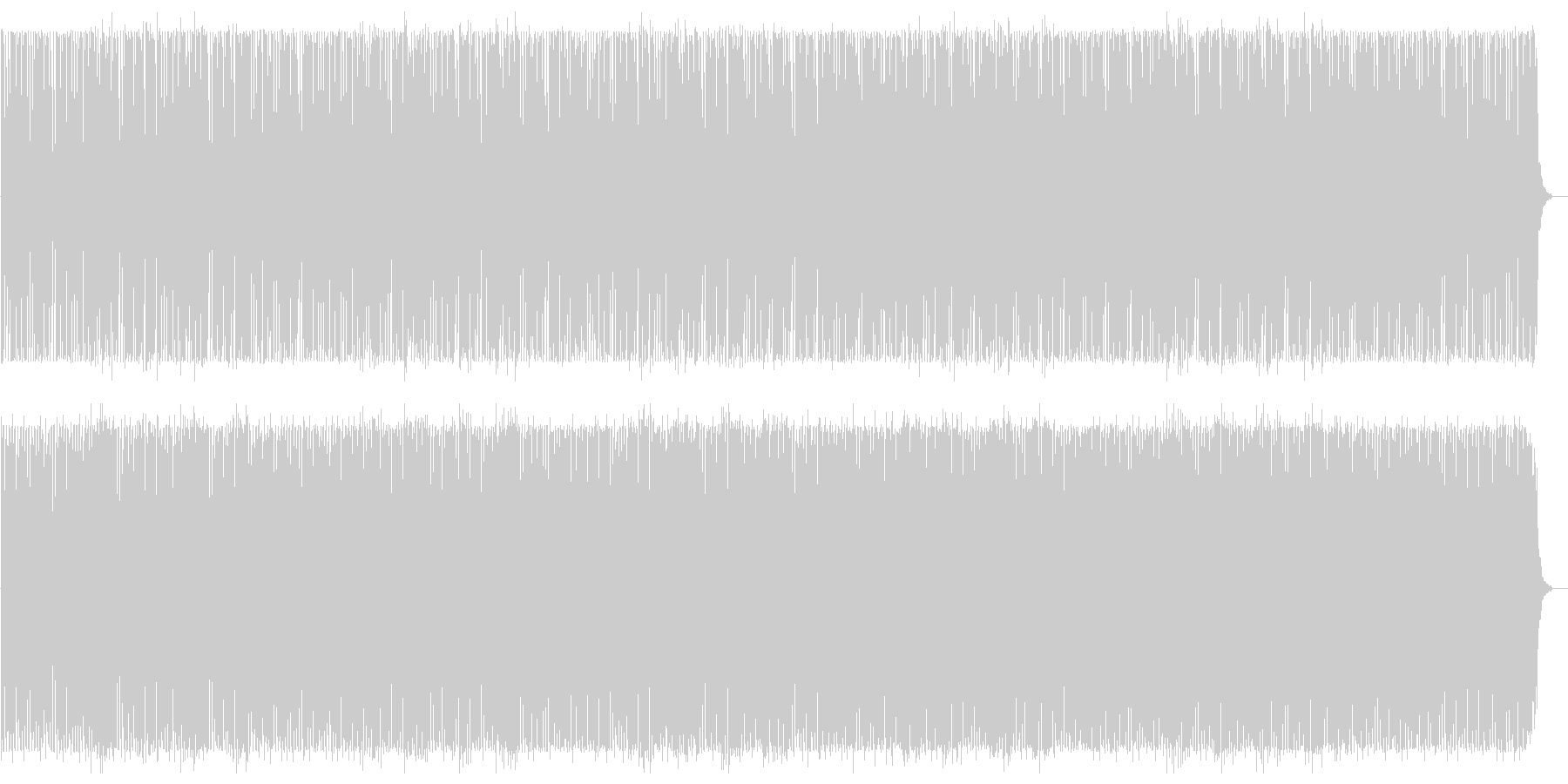 アップテンポのテクノポップの曲の未再生の波形