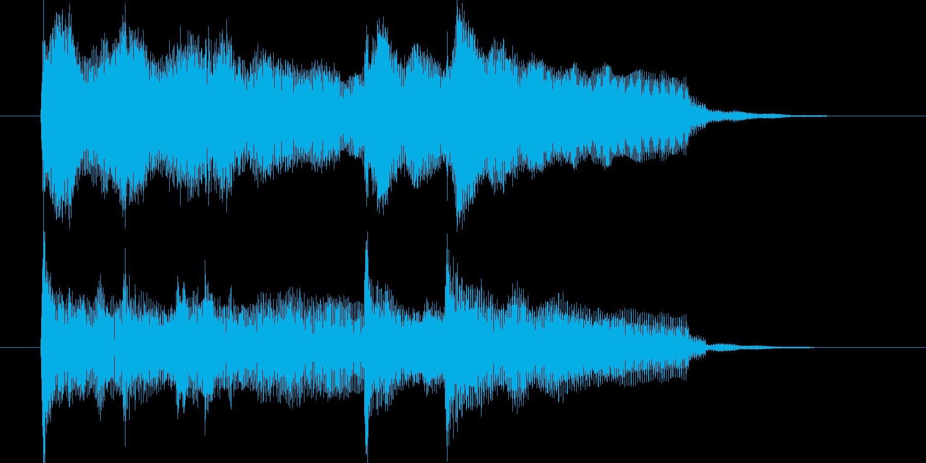ピアノ・ボサノバっぽいジングルの再生済みの波形