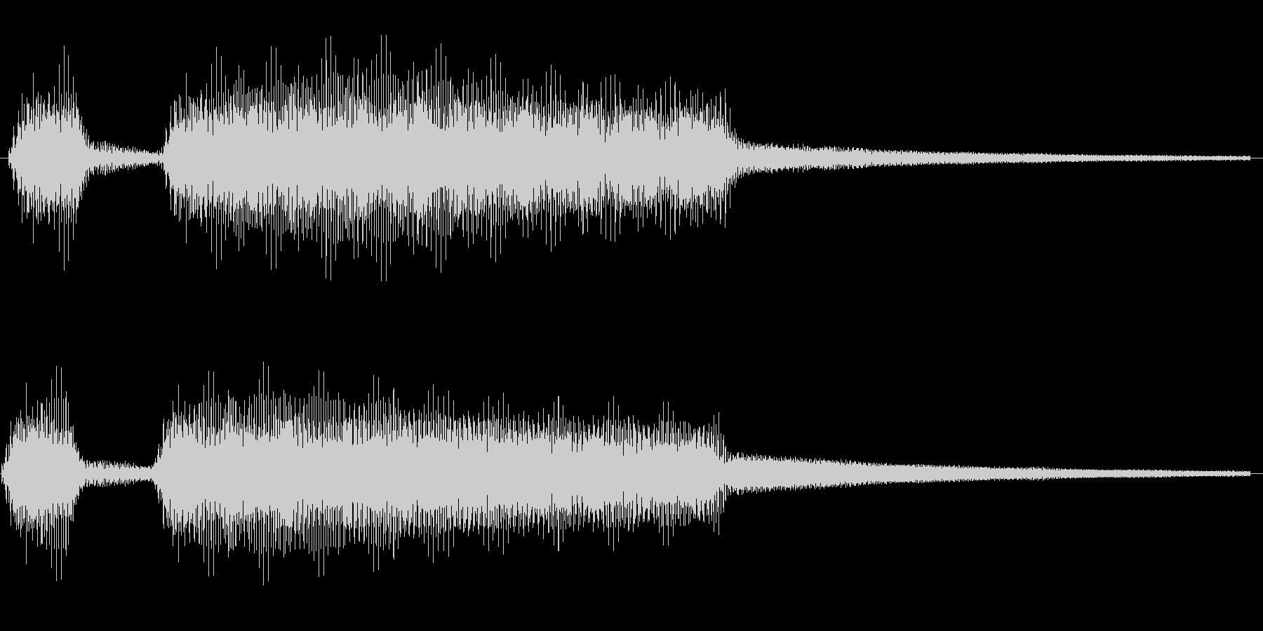 クラクションの未再生の波形