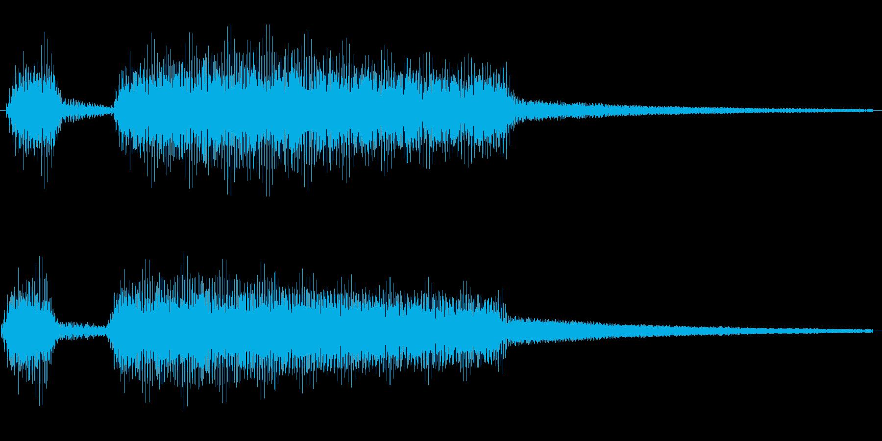 クラクションの再生済みの波形
