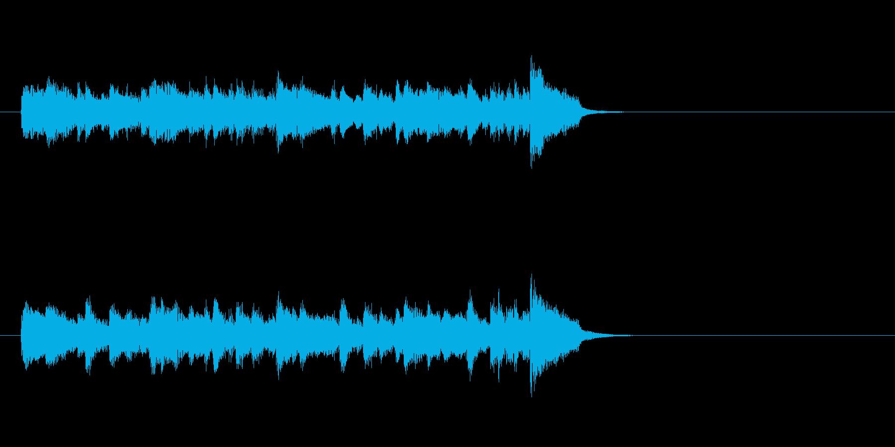 ムーディーなポップス(イントロ)の再生済みの波形