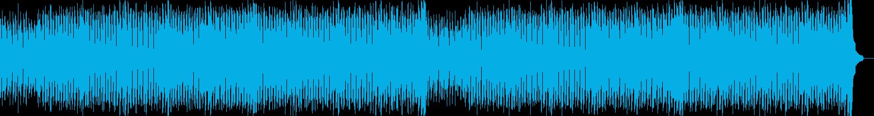 盛り上がるクールハウスの再生済みの波形
