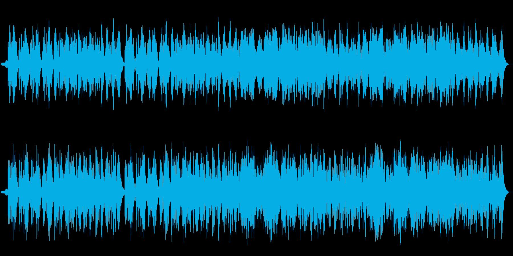 夜のまったりしたパイプオルガンのBGMの再生済みの波形