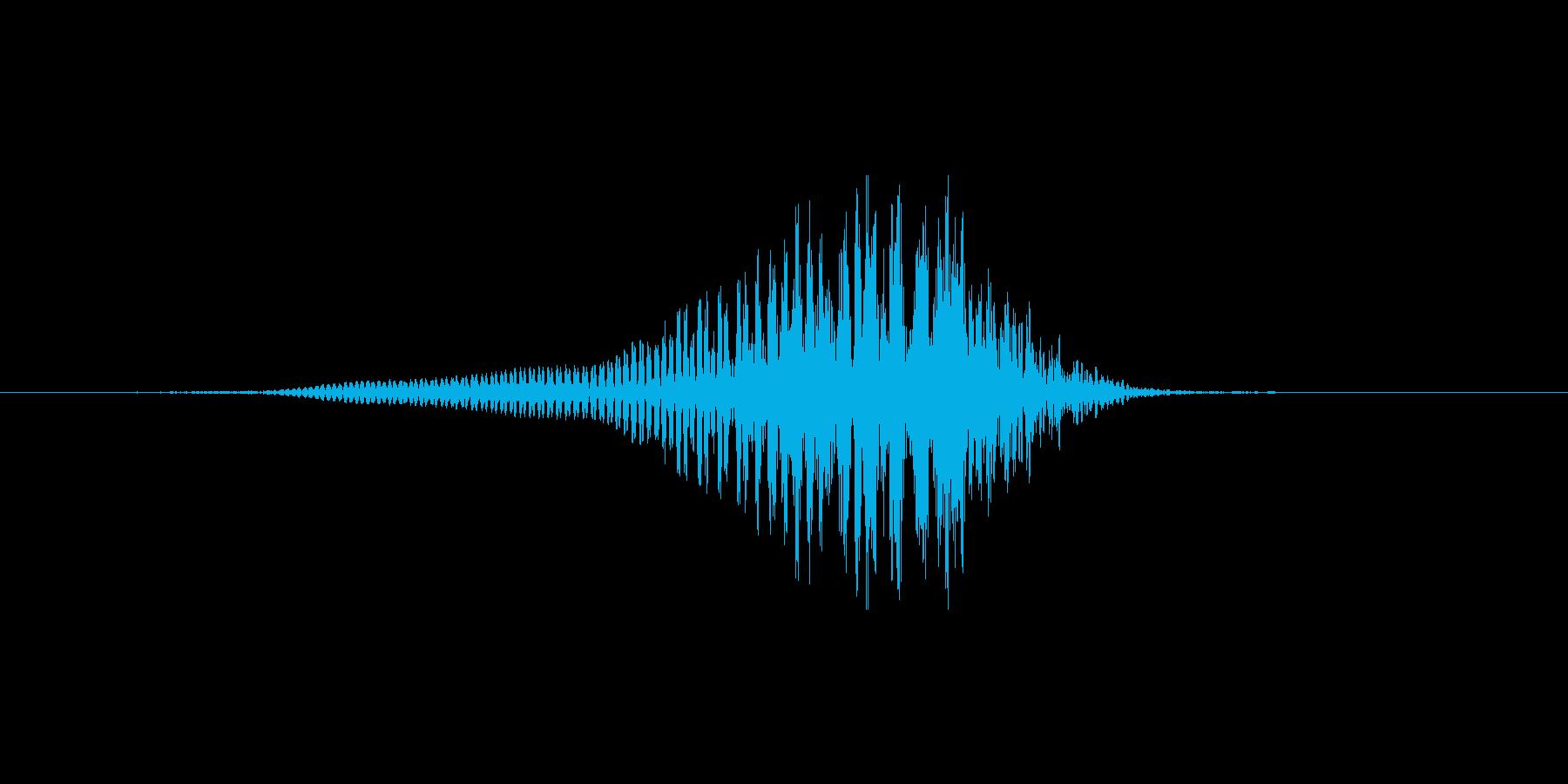 【ゾンビボイス】うなり声9の再生済みの波形
