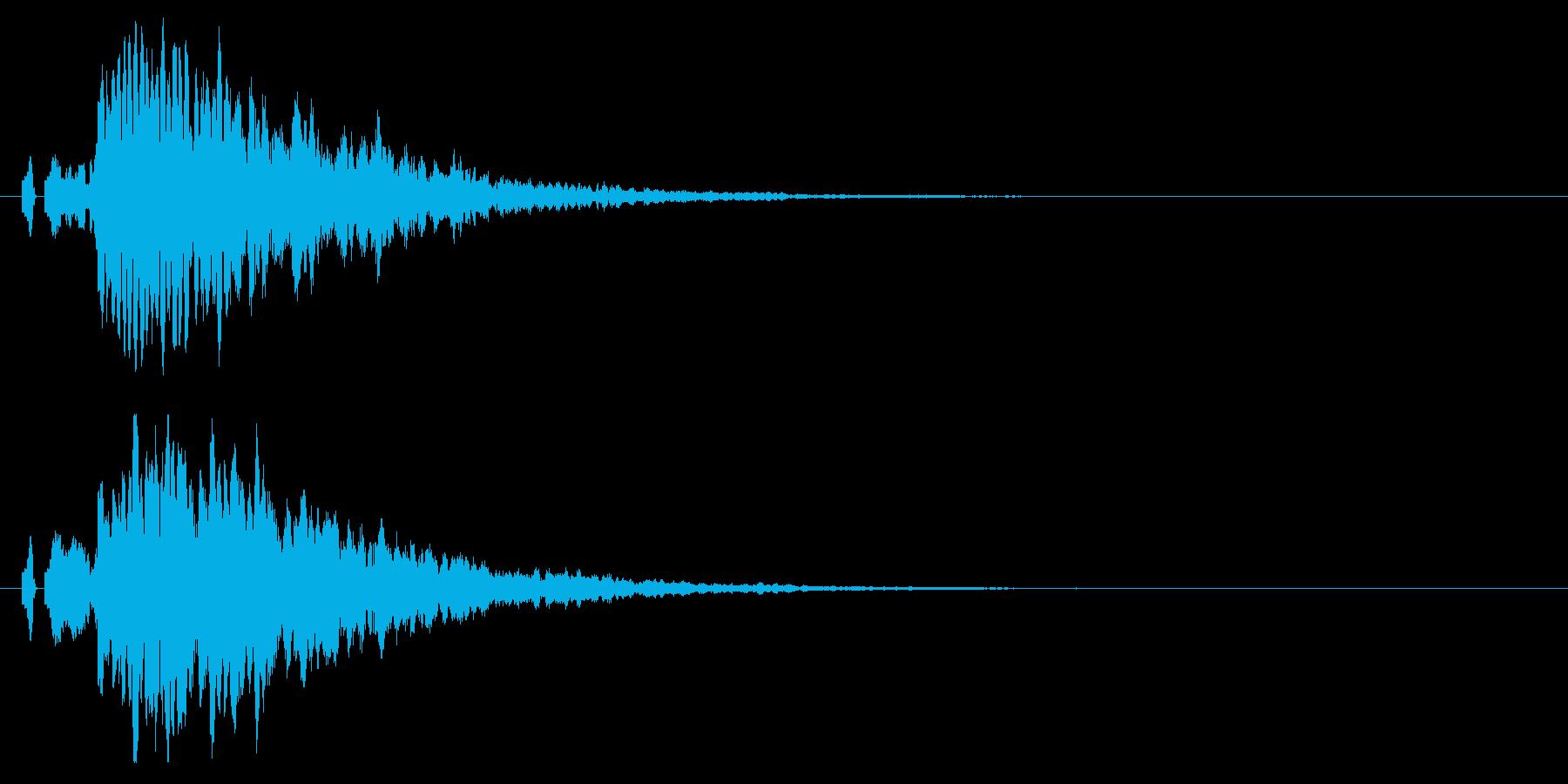 ピロン!決定/ボタン/クリック効果音!7の再生済みの波形