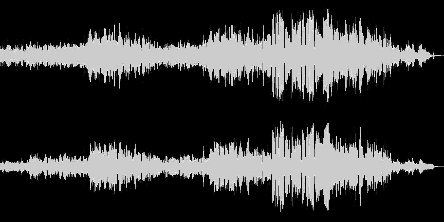 トランペットとピアノのメロディアスな楽曲の未再生の波形