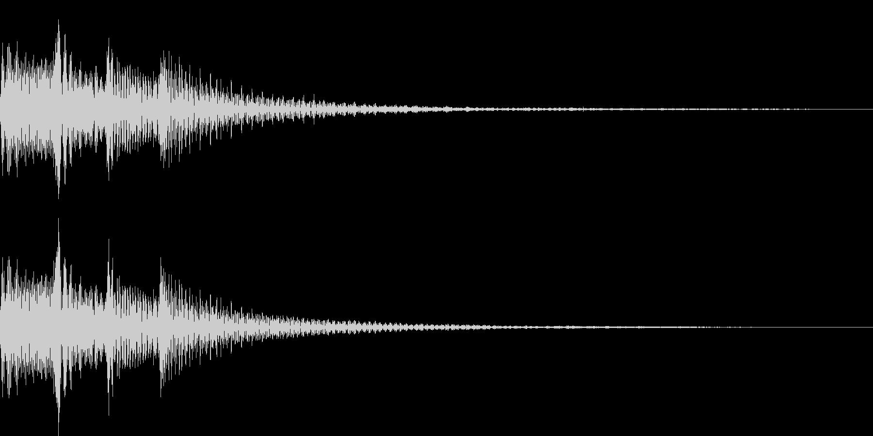 ポロロロン(スワイプ 決定 移動)の未再生の波形
