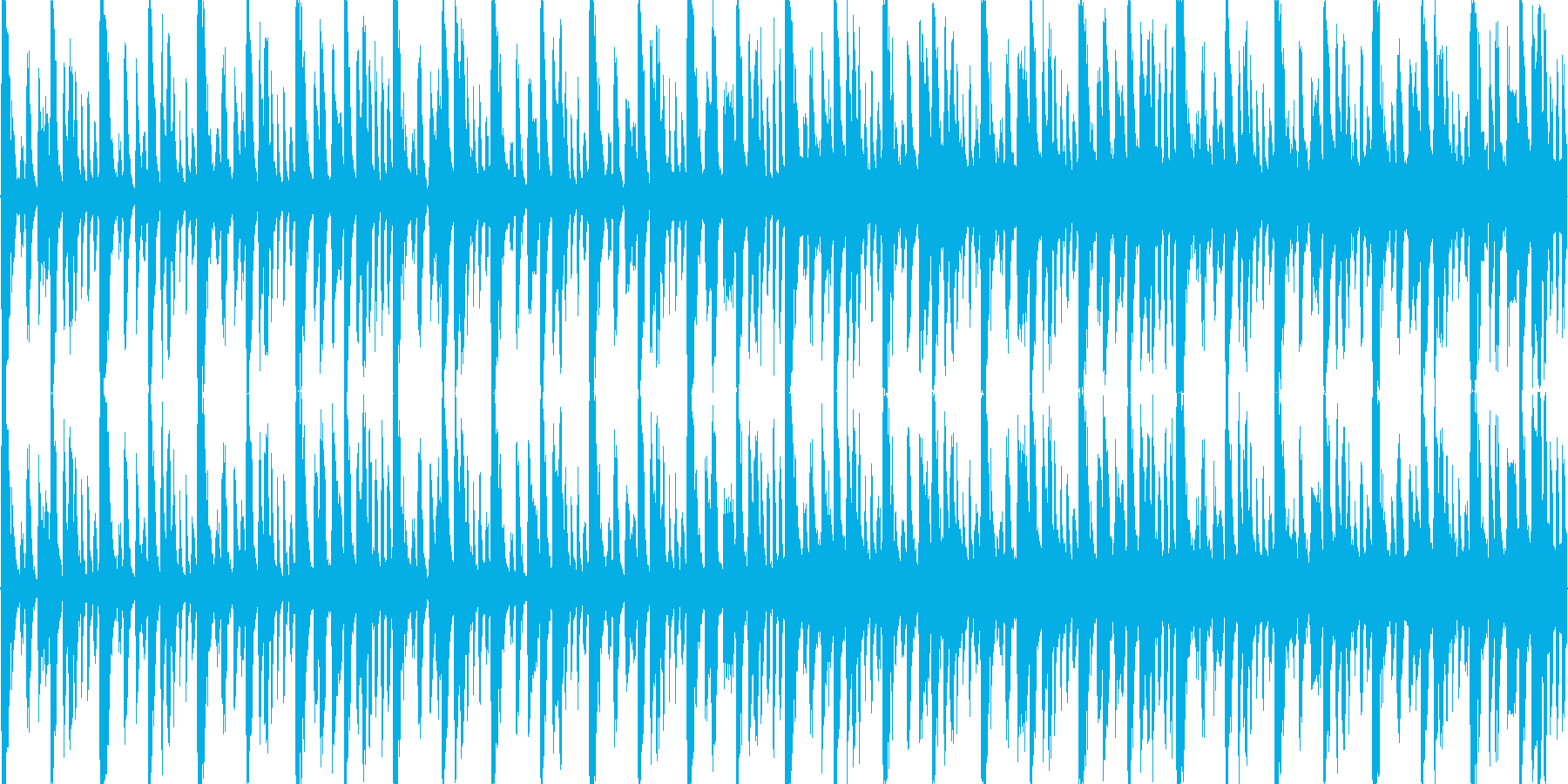シンセ+ブレイクビーツBGMの再生済みの波形