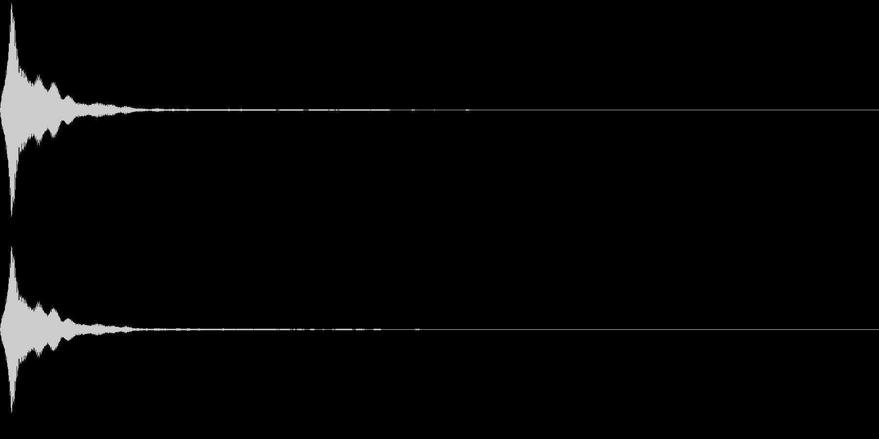 ピッ(カーソル/ 選択/電子音)の未再生の波形