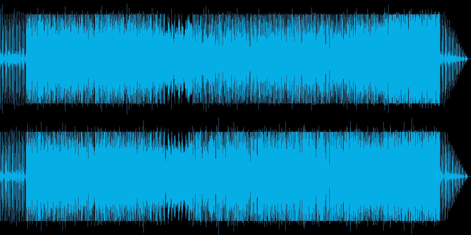 アコーディオンの風を感じるインスト曲の再生済みの波形