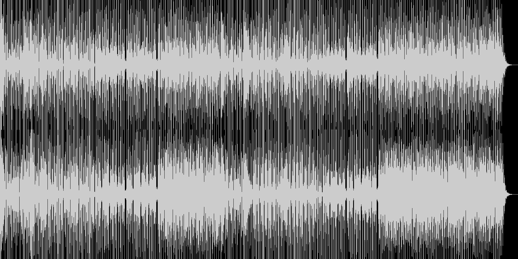ミステリアスな雰囲気のあるBGM曲の未再生の波形