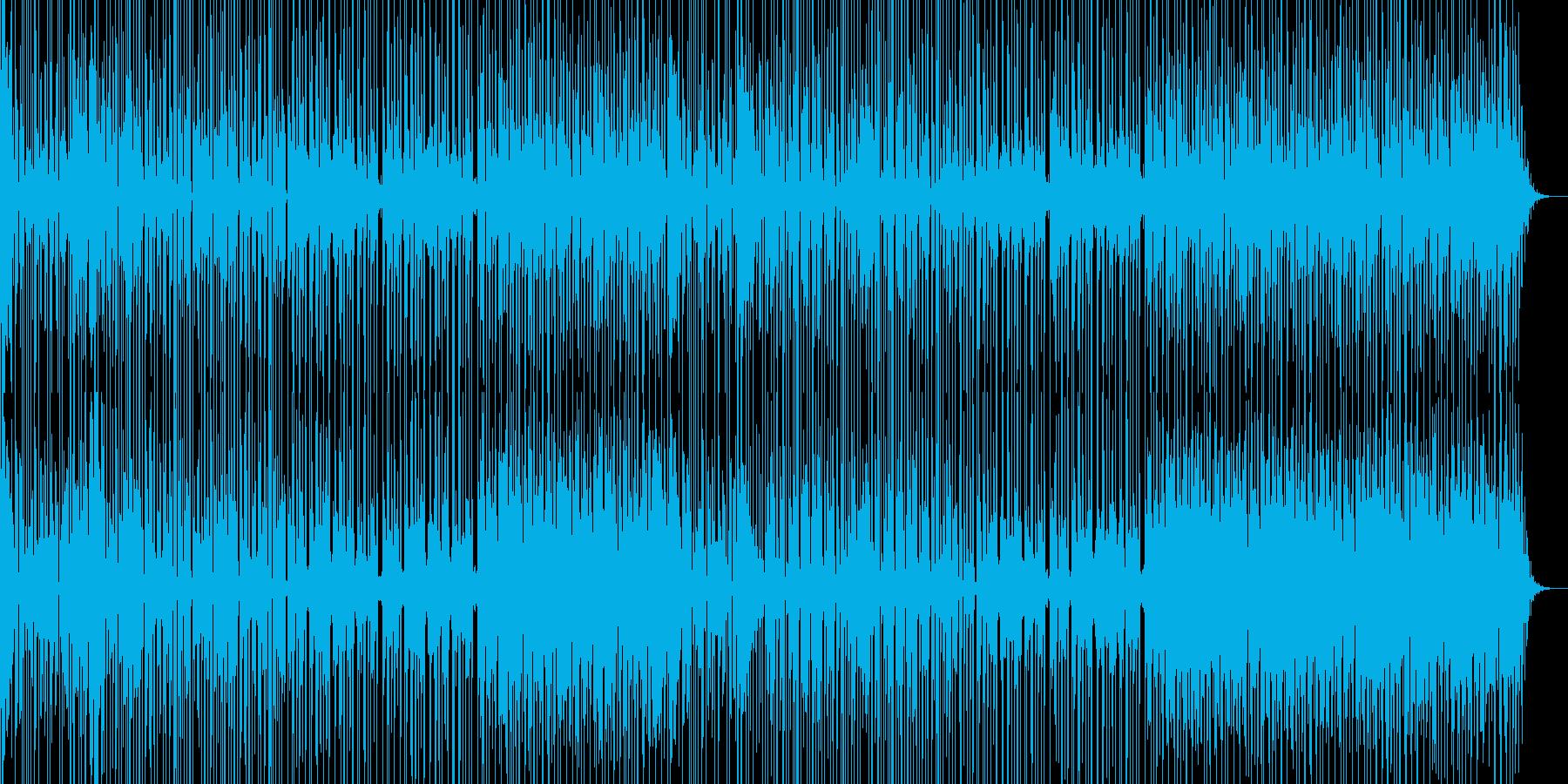 ミステリアスな雰囲気のあるBGM曲の再生済みの波形
