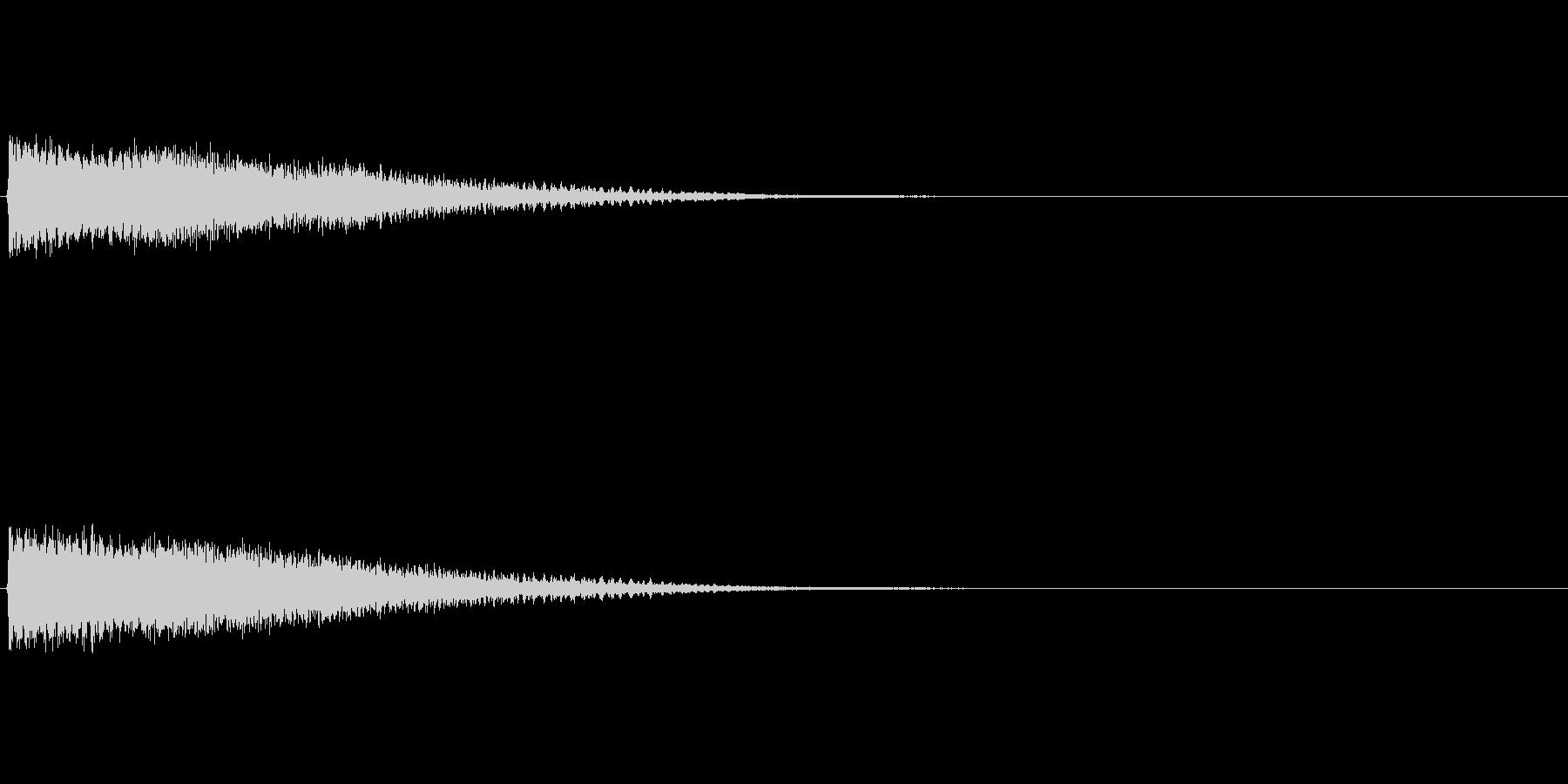 魔法効果音(重力波、暗いイメージ)の未再生の波形