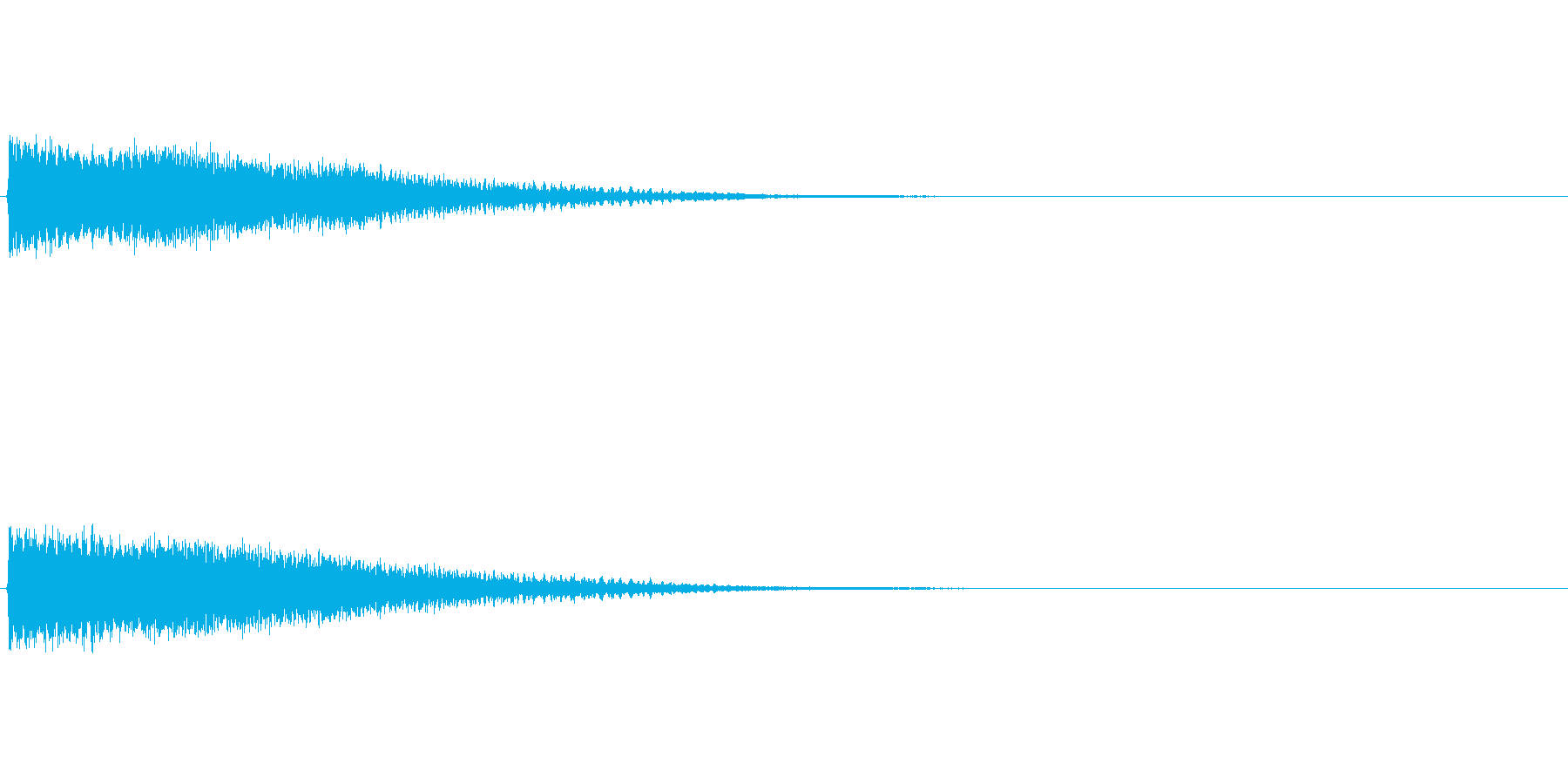 魔法効果音(重力波、暗いイメージ)の再生済みの波形