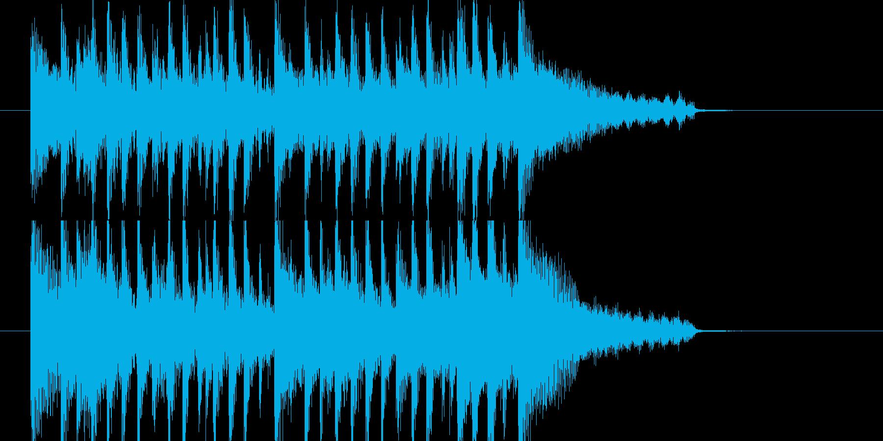 爽快なアコギのジングルの再生済みの波形