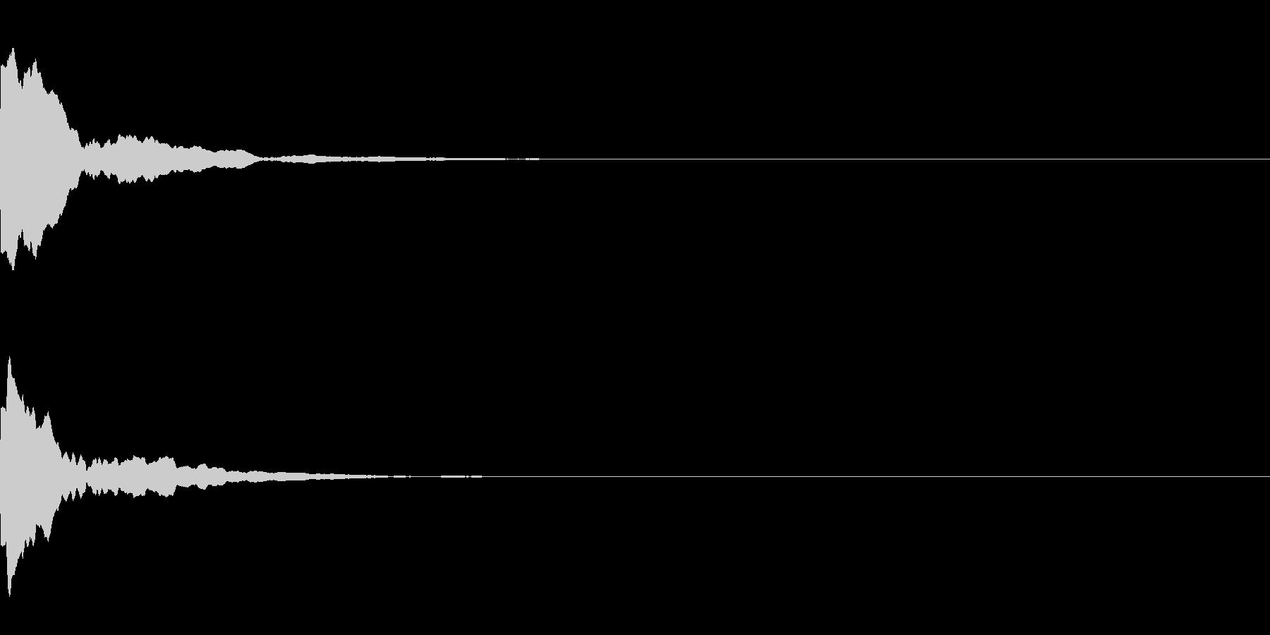 ピーン(ベルを鳴らした音)の未再生の波形