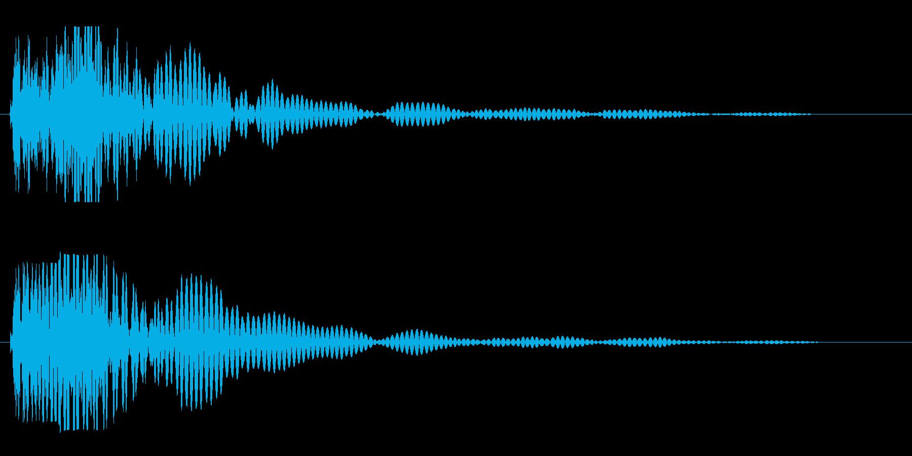 バシーンと何かがぶつかった音、衝撃音の再生済みの波形