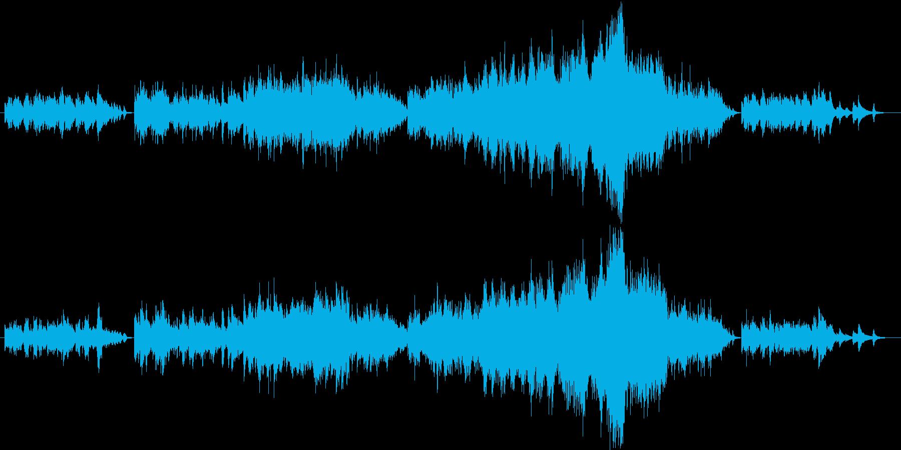 お洒落なピアノとストリングスのワルツの再生済みの波形