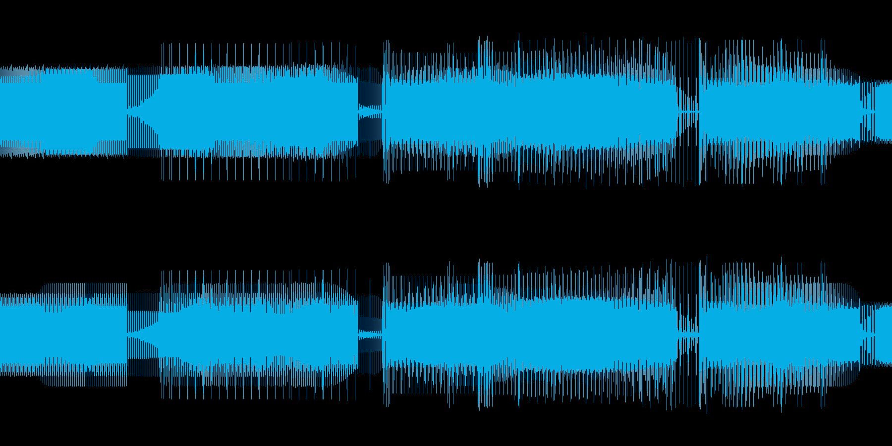 少しゆっくりしたベースがメインのテクノの再生済みの波形