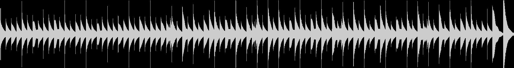 ほのぼのとして温かいオルゴール曲の未再生の波形