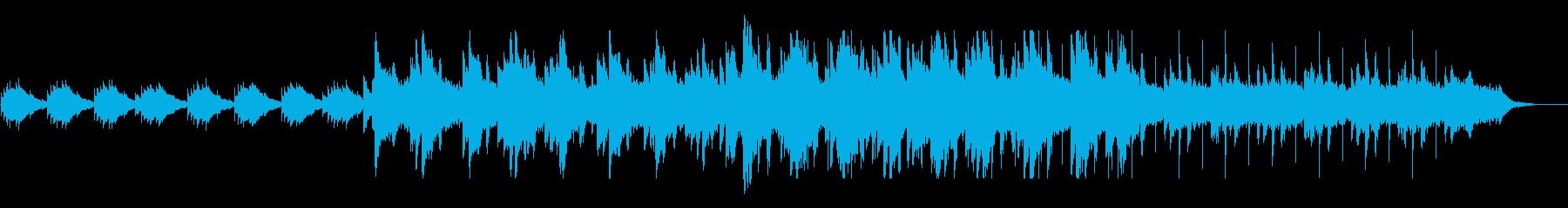 シリアス感と切ないピアノ・シンセテクノの再生済みの波形