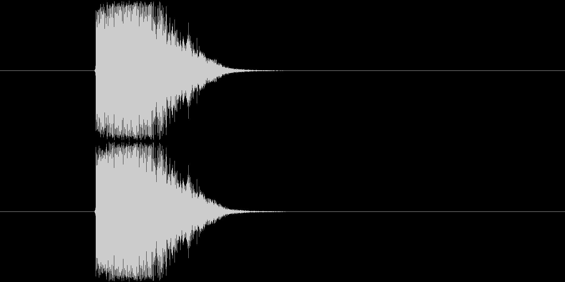 金属系のかためなインパクトSEです。1…の未再生の波形