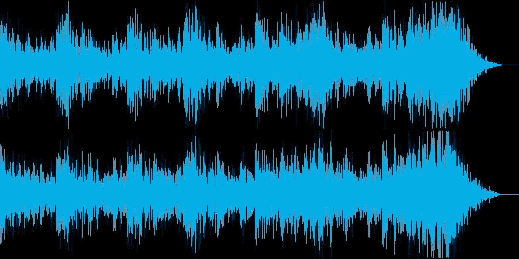緊迫としたBGMの再生済みの波形