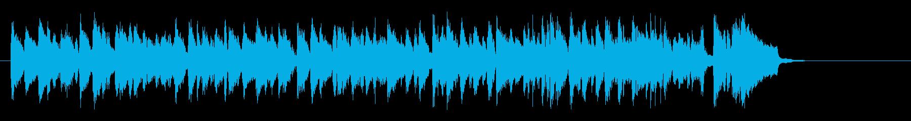 懐かしさに浸るジャズ(サビ~エンド)の再生済みの波形