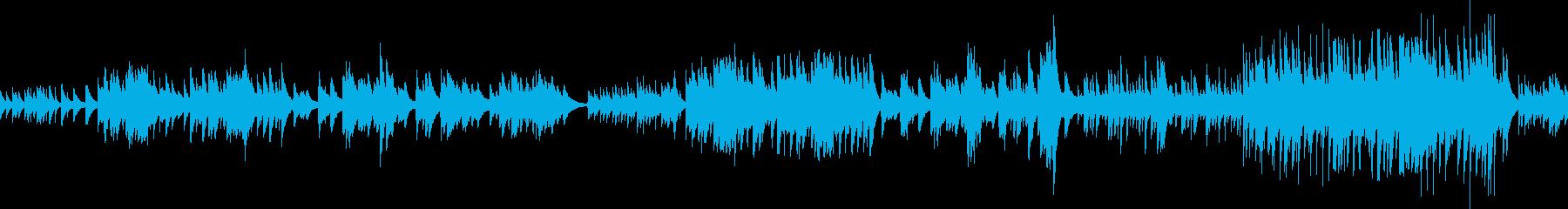 のどかな自然を感じさせるピアノ曲 ループの再生済みの波形