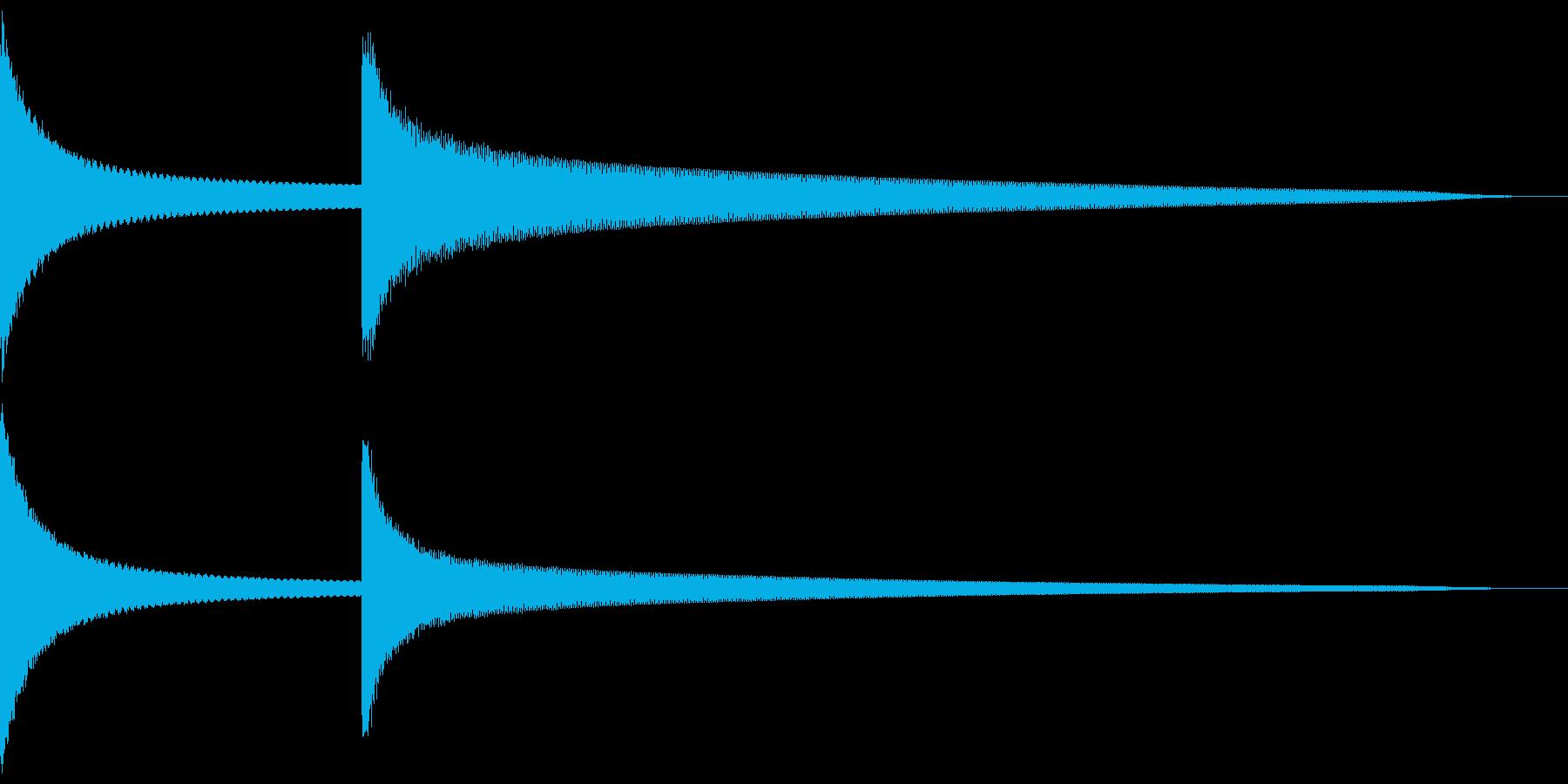 キンコーン 低め(注意喚起など) 鉄琴風の再生済みの波形