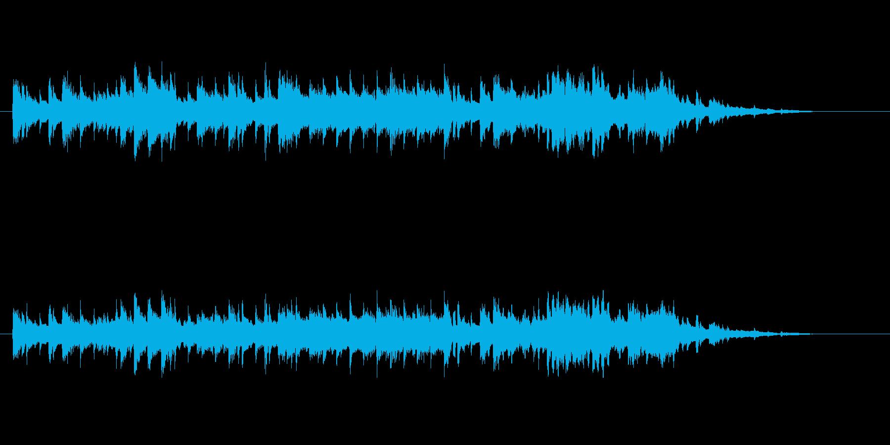 大人な雰囲気の4ビートの再生済みの波形