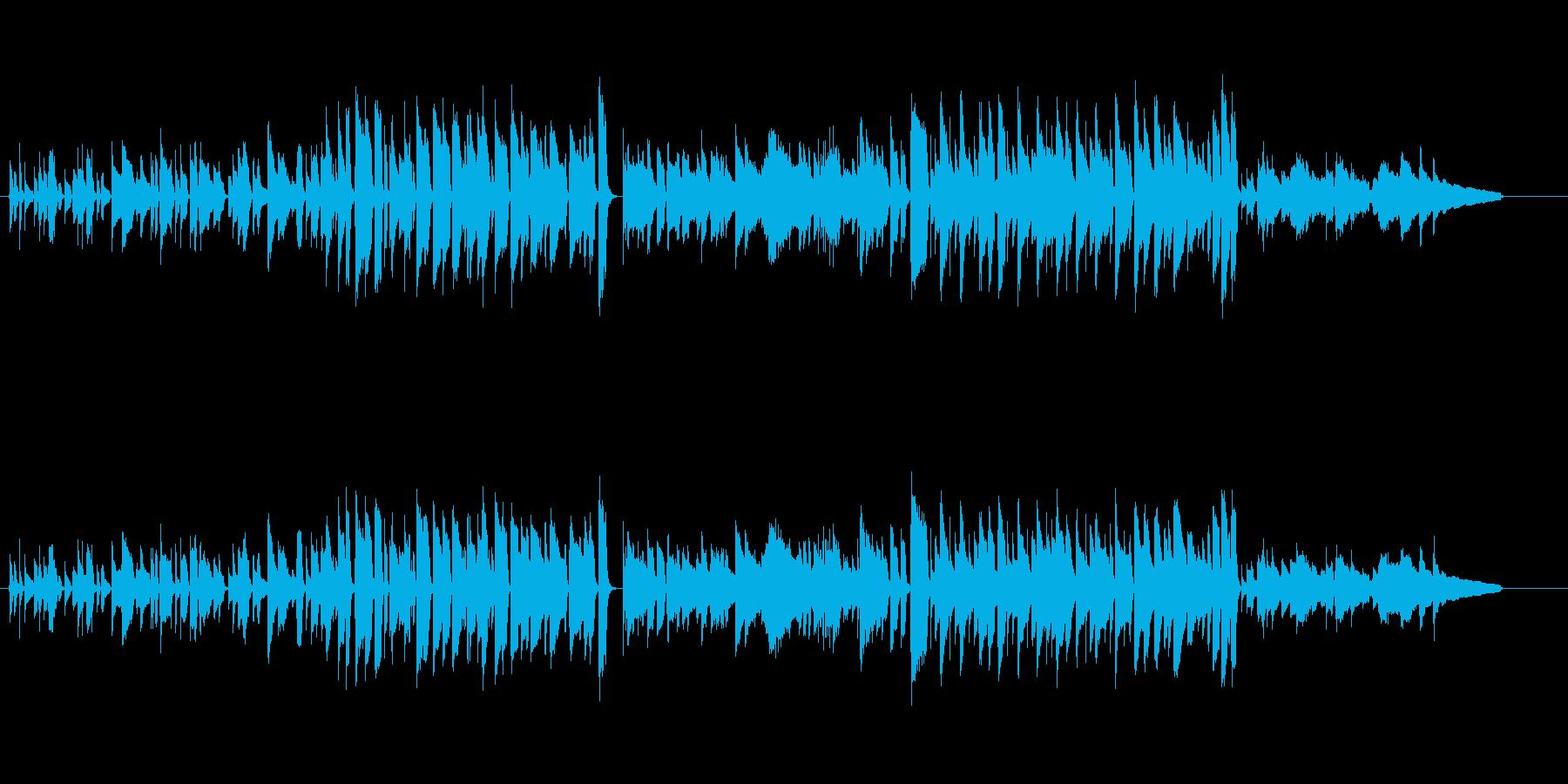 切ない気持ちになるエレピ楽曲の再生済みの波形
