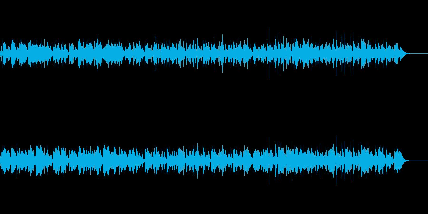 温かくノスタルジックなオルゴールの再生済みの波形