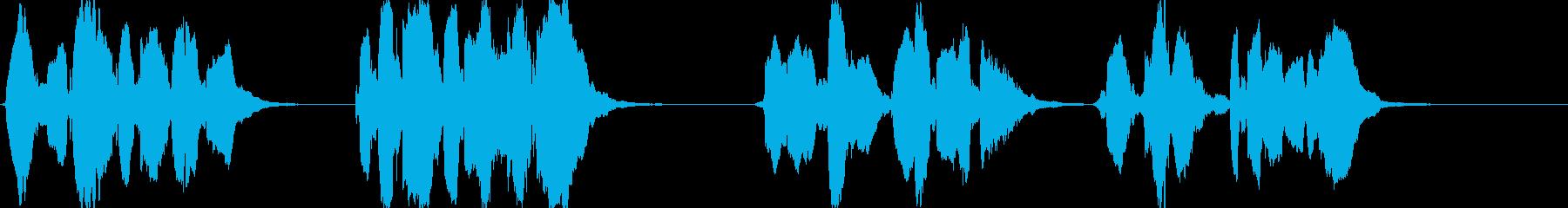 スカボロー・フェアのアカペラの再生済みの波形