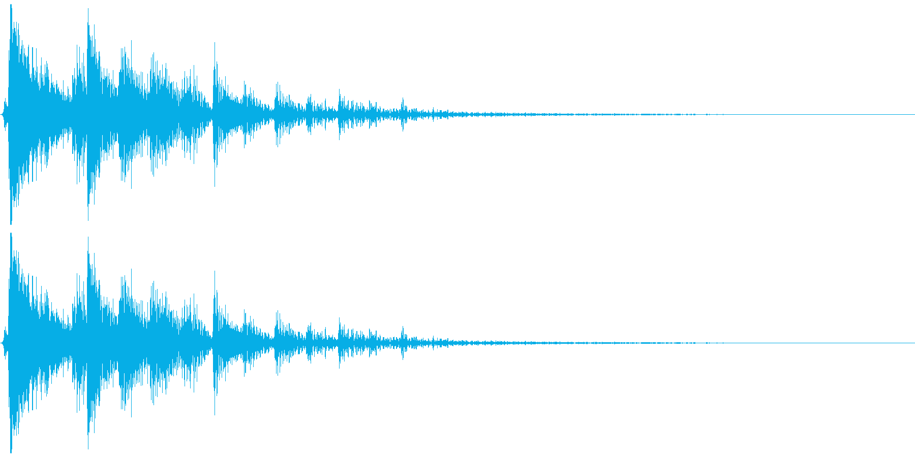 キャンセルのイメージの再生済みの波形