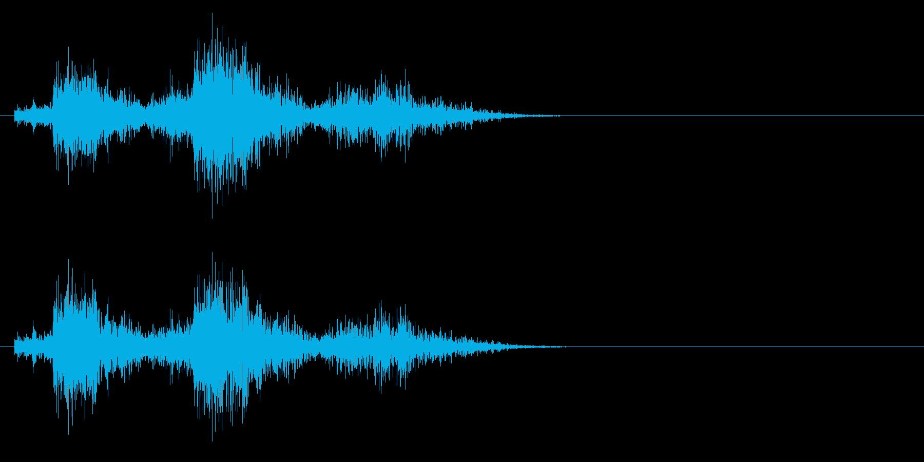 場面 雷の再生済みの波形