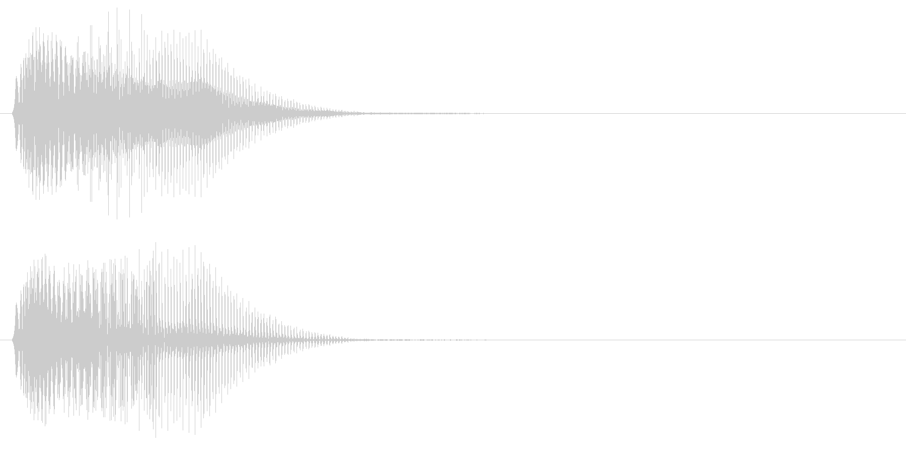 電子系 打撃音の未再生の波形