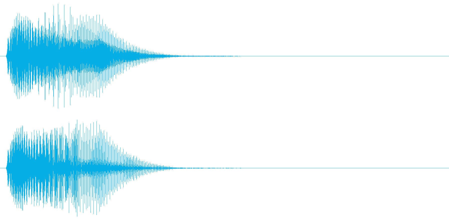 電子系 打撃音の再生済みの波形