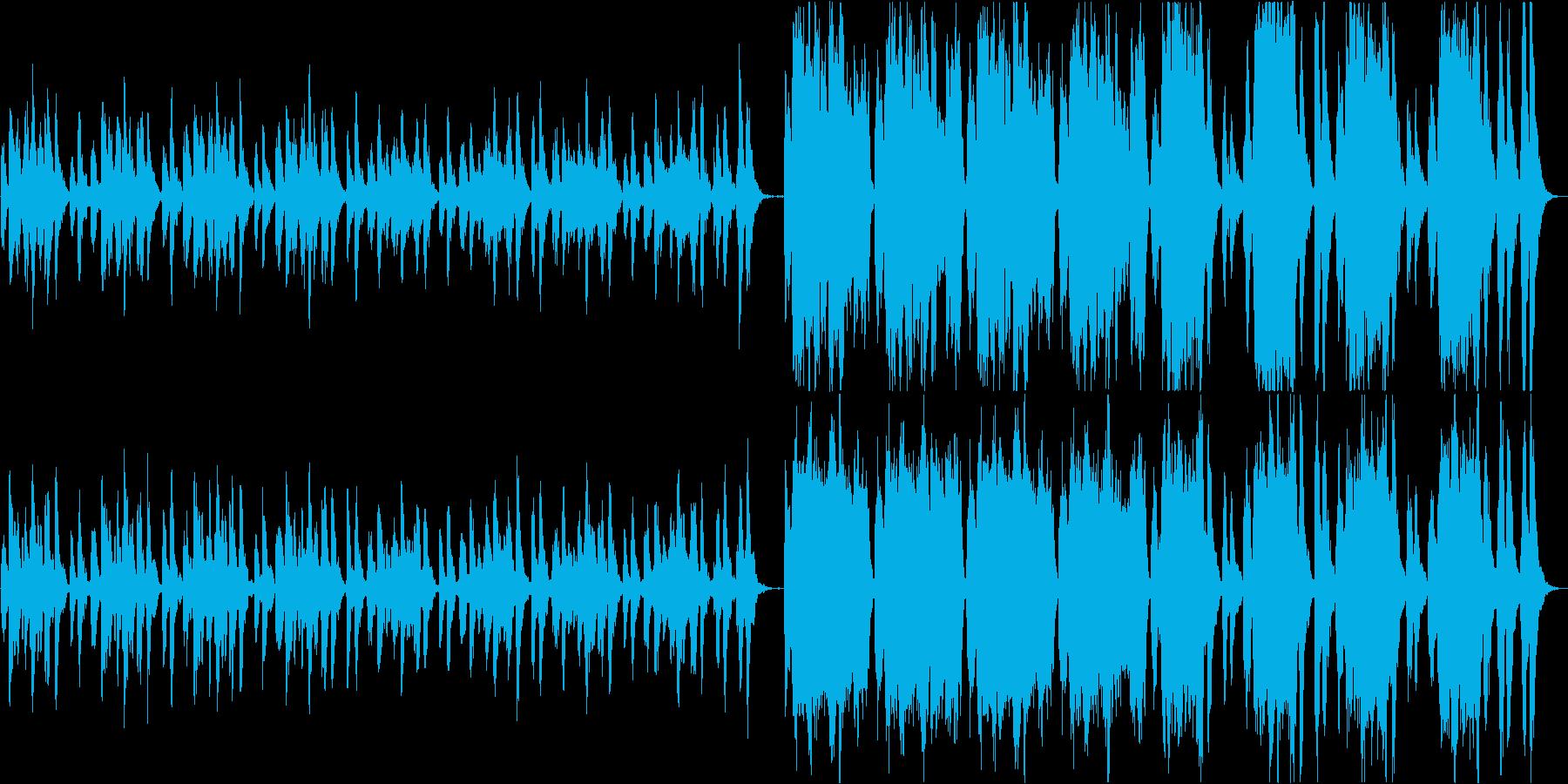 ほのぼの優雅なワルツ風ループBGMの再生済みの波形